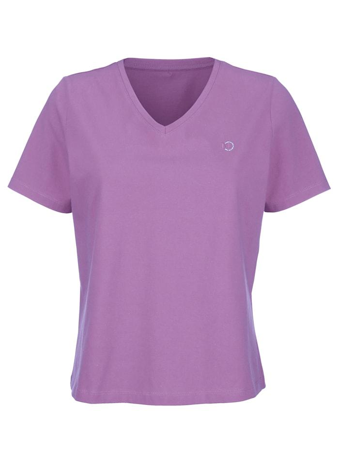 "MONA T-shirt en coton issu de l'initiative ""Cotton Made in Africa"", Lavande"