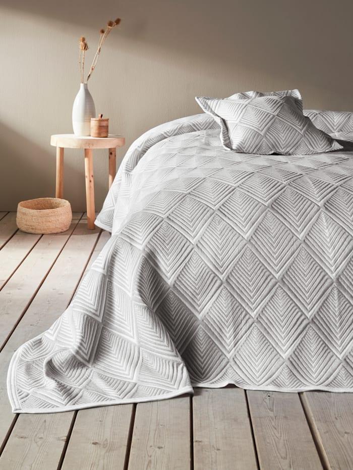 Webschatz Bettüberwurf 'Cosima', Grau
