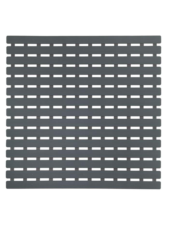 Wenko Duscheinlage Arinos Grau, 54 x 54 cm, Oberfläche: Grau, Rückseite: Grau