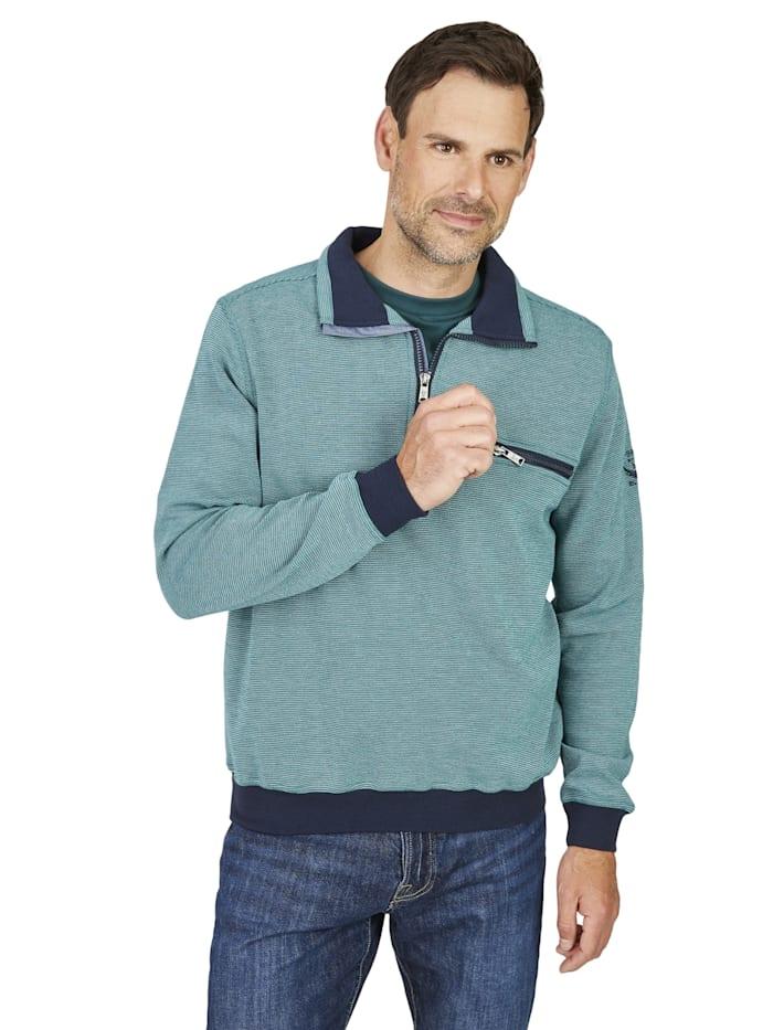 Hajo Sweatshirt, blau-grün