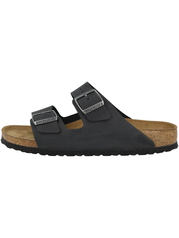 Birkenstock Sandale Arizona SFB Geöltes Nubukleder schmal, schwarz