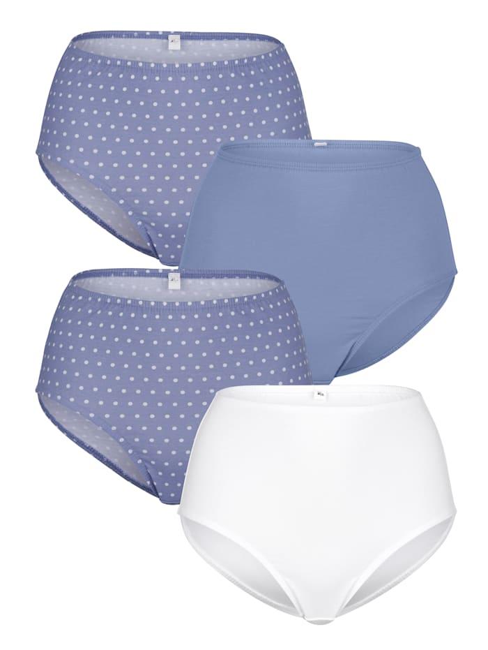 Harmony Taillenslips im 4er Pack, Blau/Weiß
