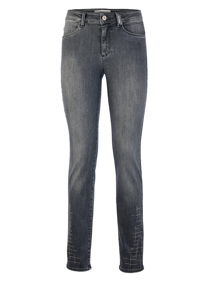 Jeans 'Shakira' mit Gitter Hotfix am Saum