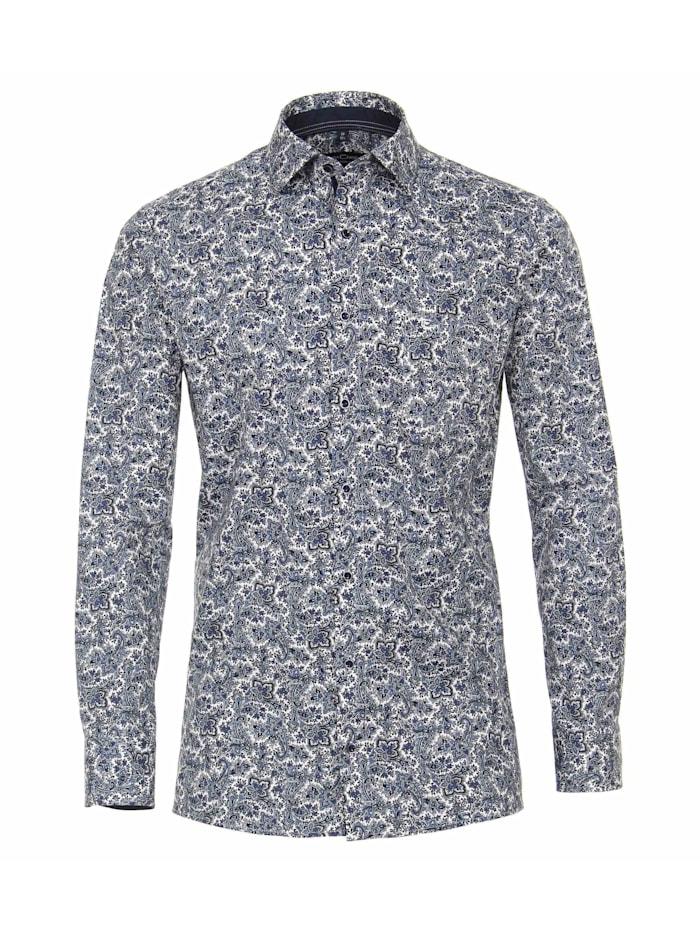 CASAMODA Hemd Print Modern Fit, Mittelblau