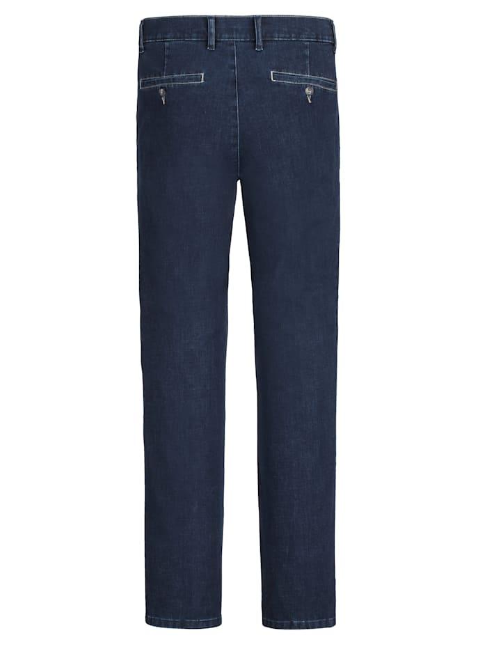 Jeans med kontrasterande sömmar