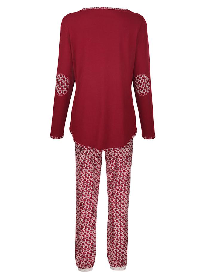 Schlafanzug mit niedlichen Ellenbogen-Patches