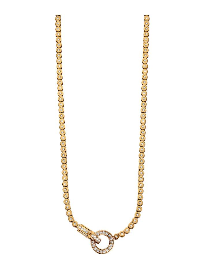 Diemer Diamant Collier mit 136 Brillanten, Weiß