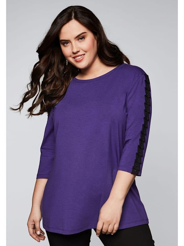 Sheego Sheego Shirt in A-Linie geschnitten, lila