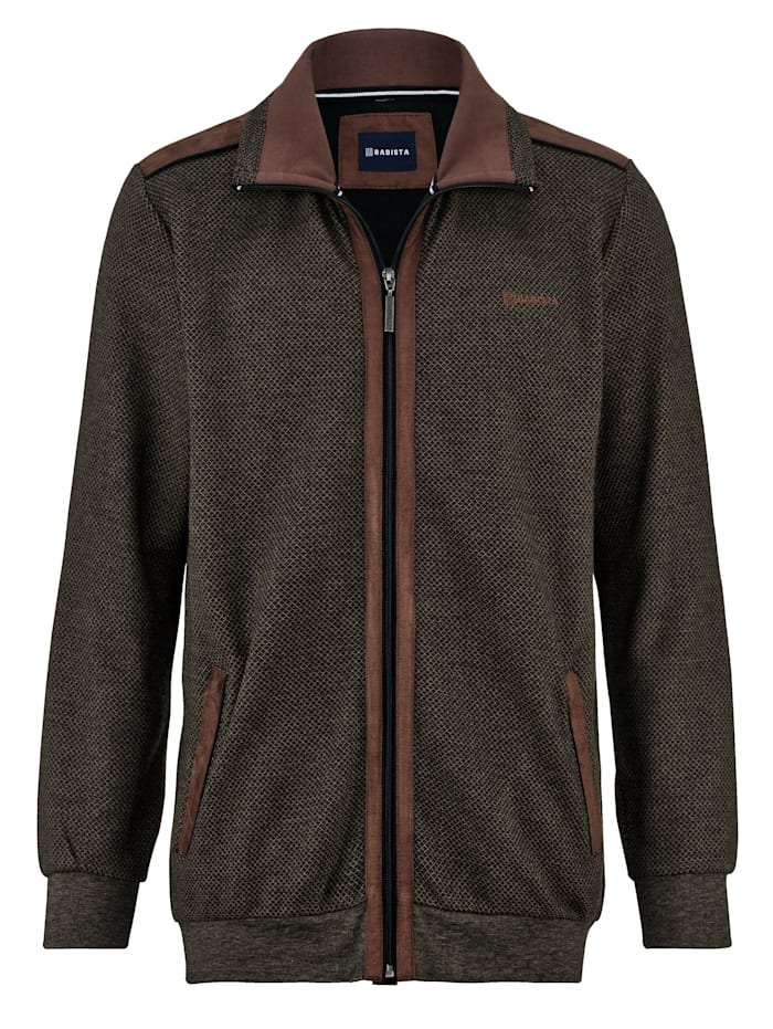 Babista Premium Veste molletonnée avec finition carbone, Marron