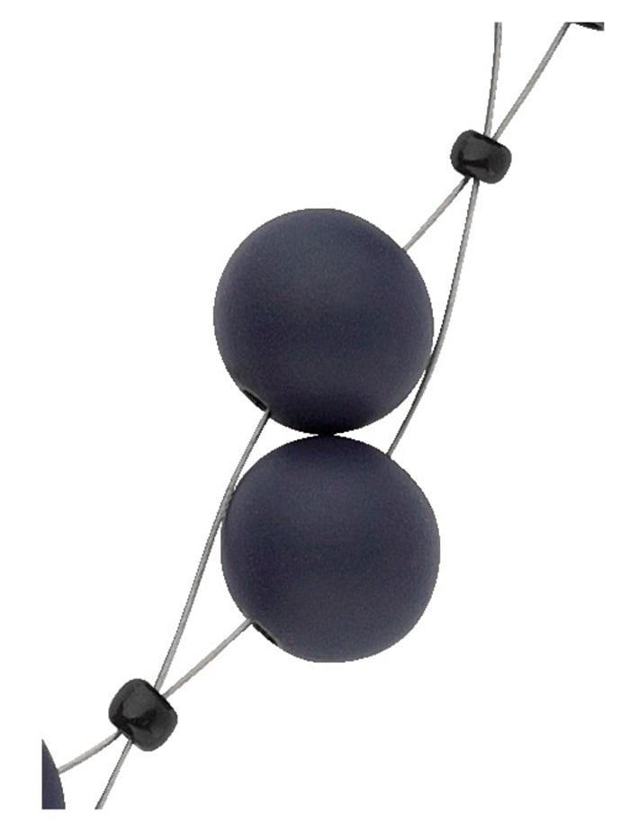 Collier mit blauen Kugeln, Blau