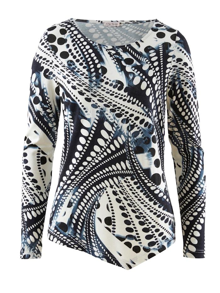 Shirt im Alba Moda exklusiven Dessin