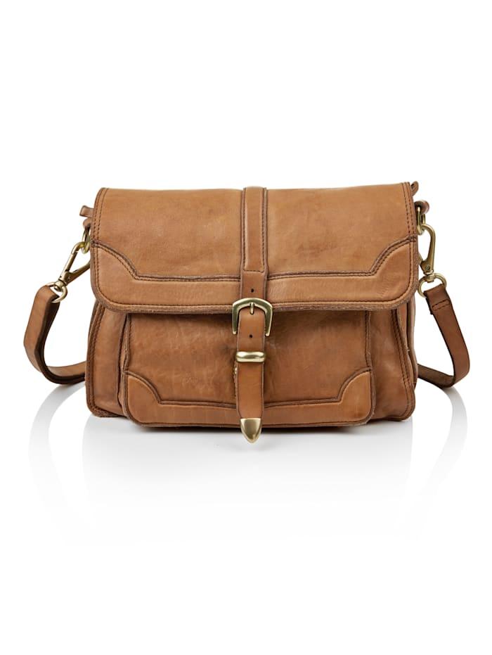Campomaggi Crossbody-Bag aus Leder, Haselnuss