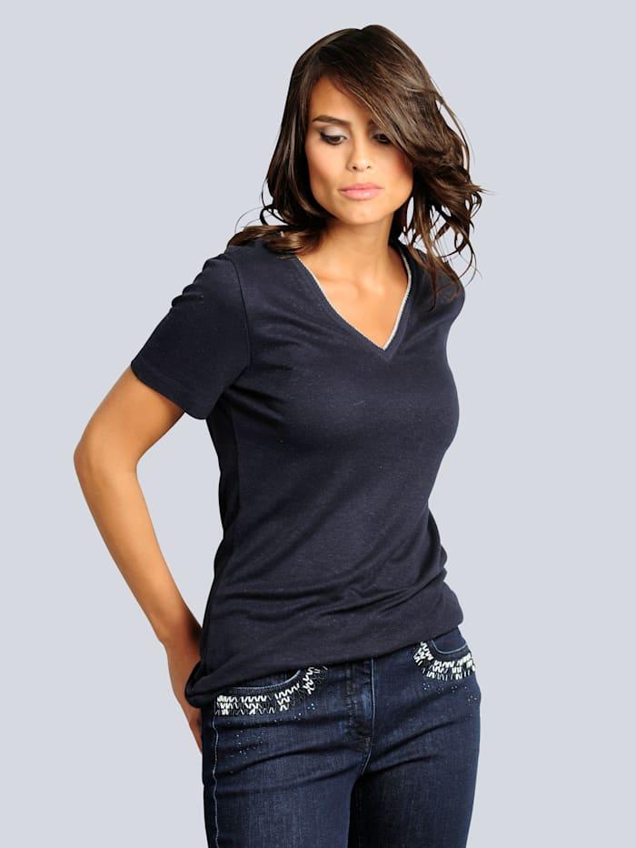 Shirt mit Leinenanteil