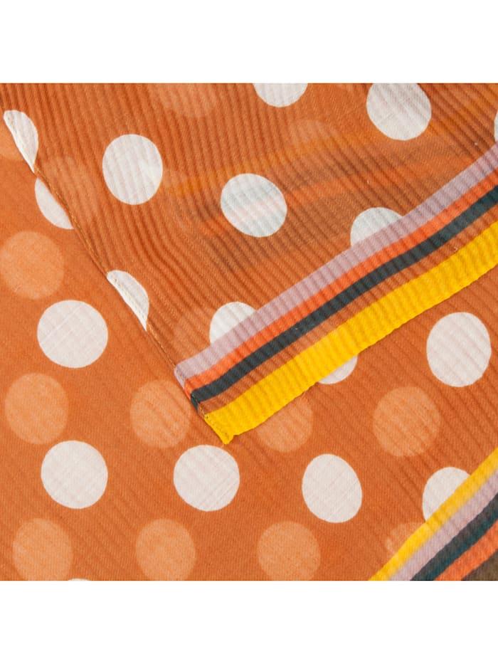 Ultrasofter Plissee-Schal mit XL-Tupfen aus recyceltem Polyester