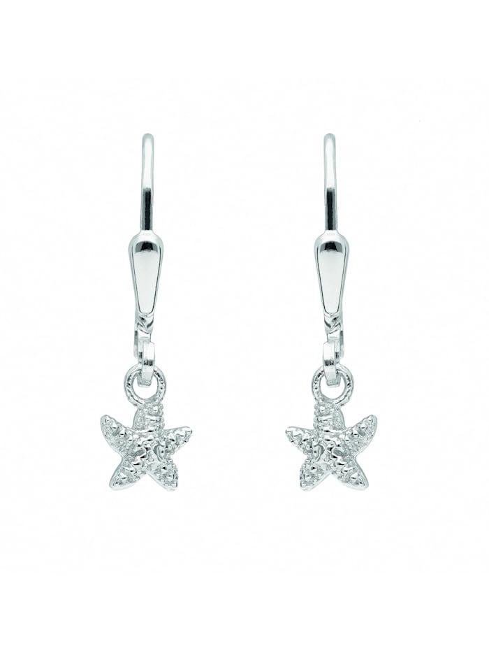 1001 Diamonds Damen Silberschmuck 925 Silber Ohrringe / Ohrhänger Seestern, silber
