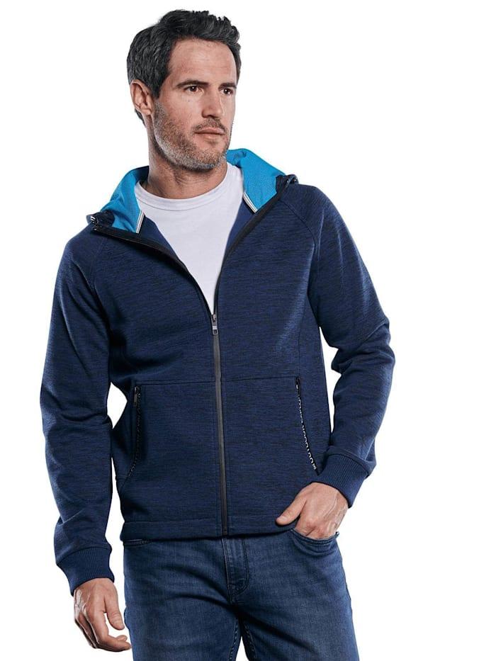 Engbers Sportive Sweatjacke mit Outdoor-Details, Marineblau