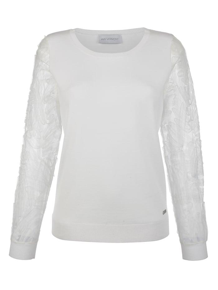 Pullover mit Ärmeln aus Mesh
