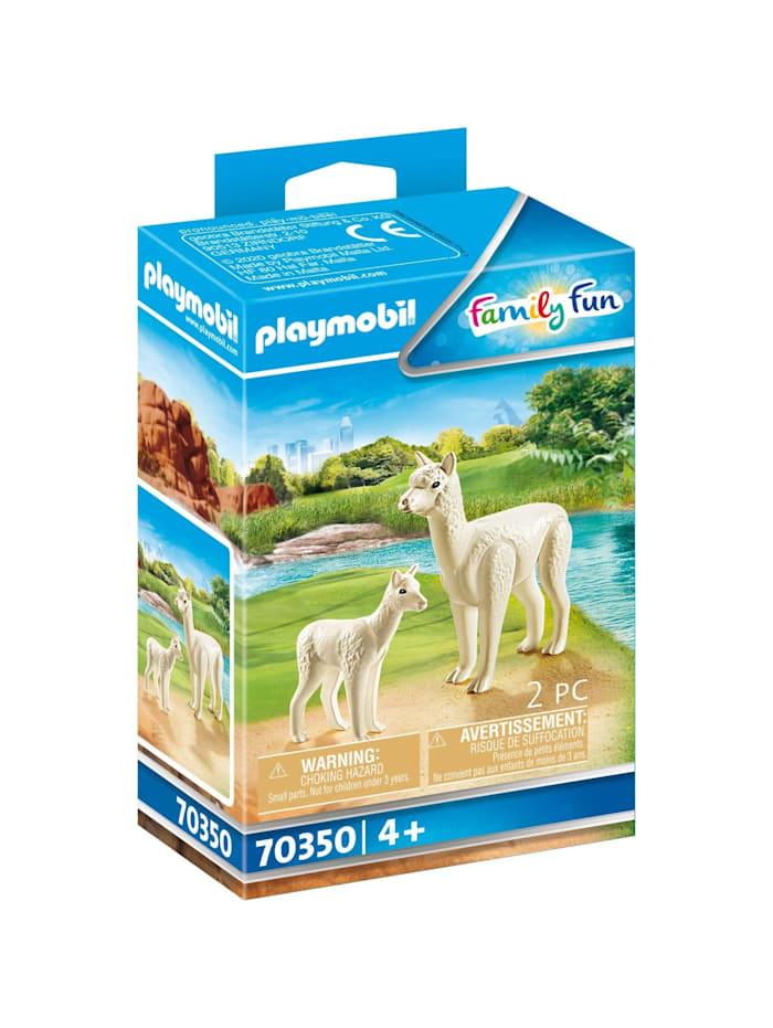 PLAYMOBIL Konstruktionsspielzeug Alpaka mit Baby, bunt/multi