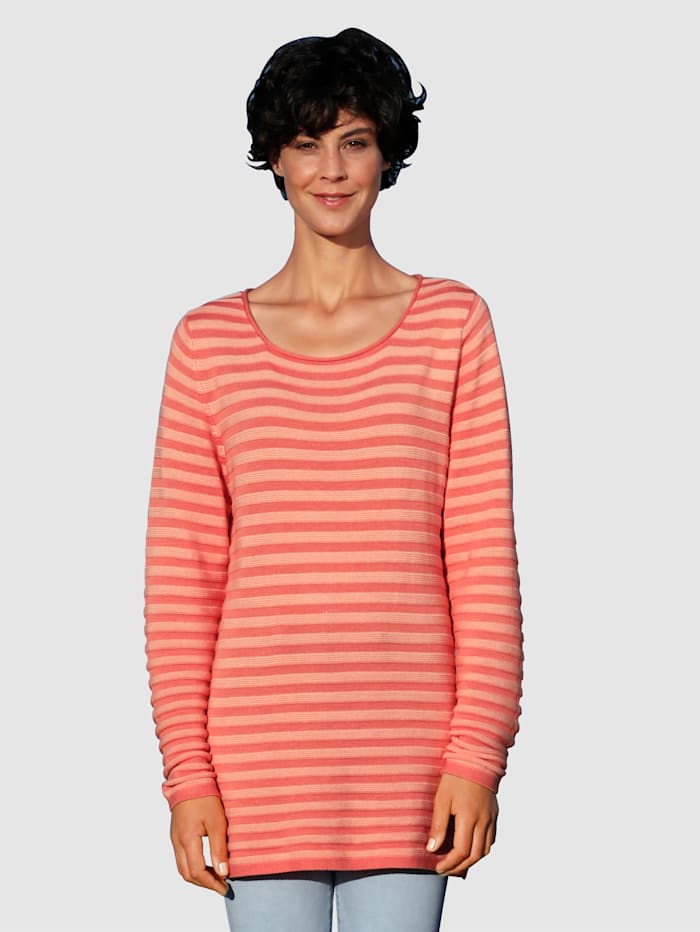 Dress In Trui met mooie structuur, Terracotta/Apricot