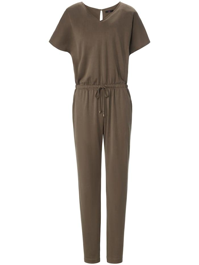 Emilia Lay Jumpsuit Jersey-Overall, khaki