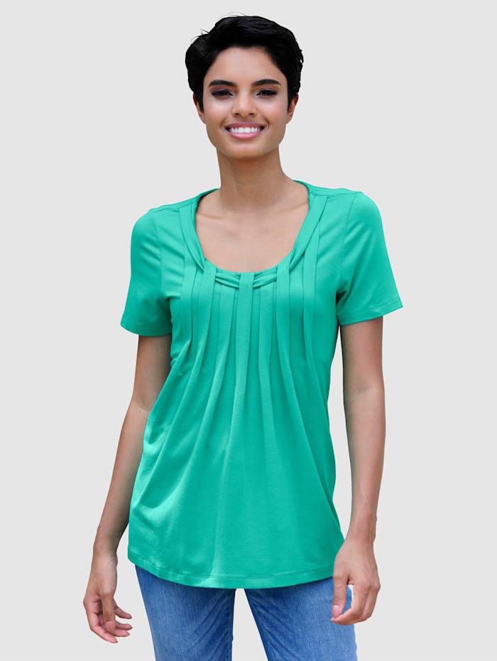 Alba Moda Strandshirt mit Rundhals, Smaragd