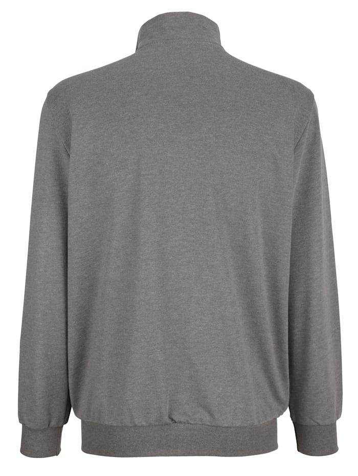 Sweatshirtjacka med fickor