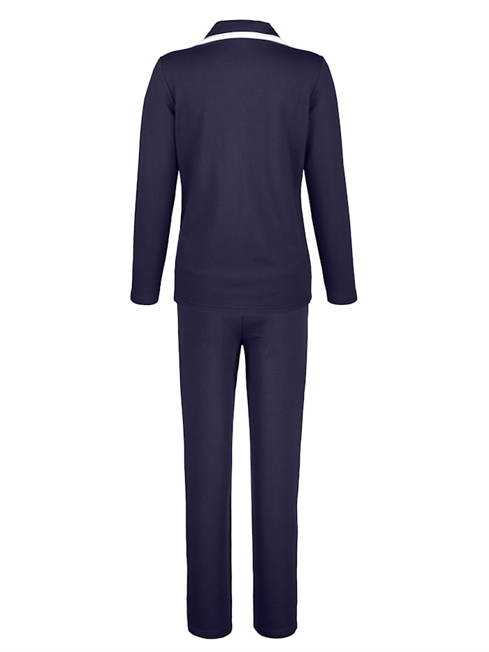 Loungewear Set Contrasting piping