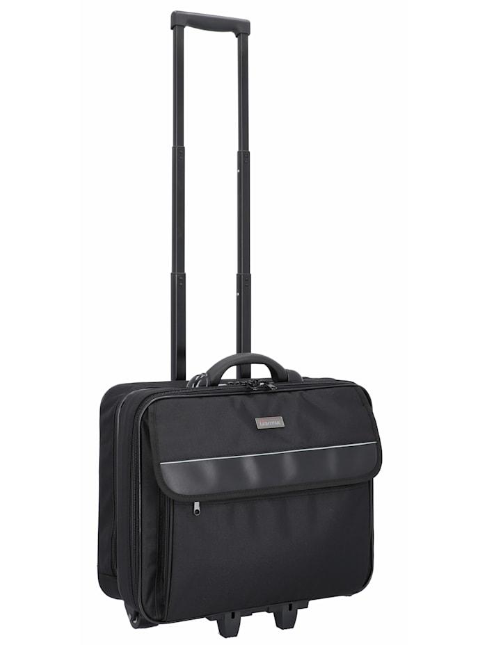 Lightpak Treviso 2-Rollen Businesstrolley 39 cm Laptopfach, schwarz
