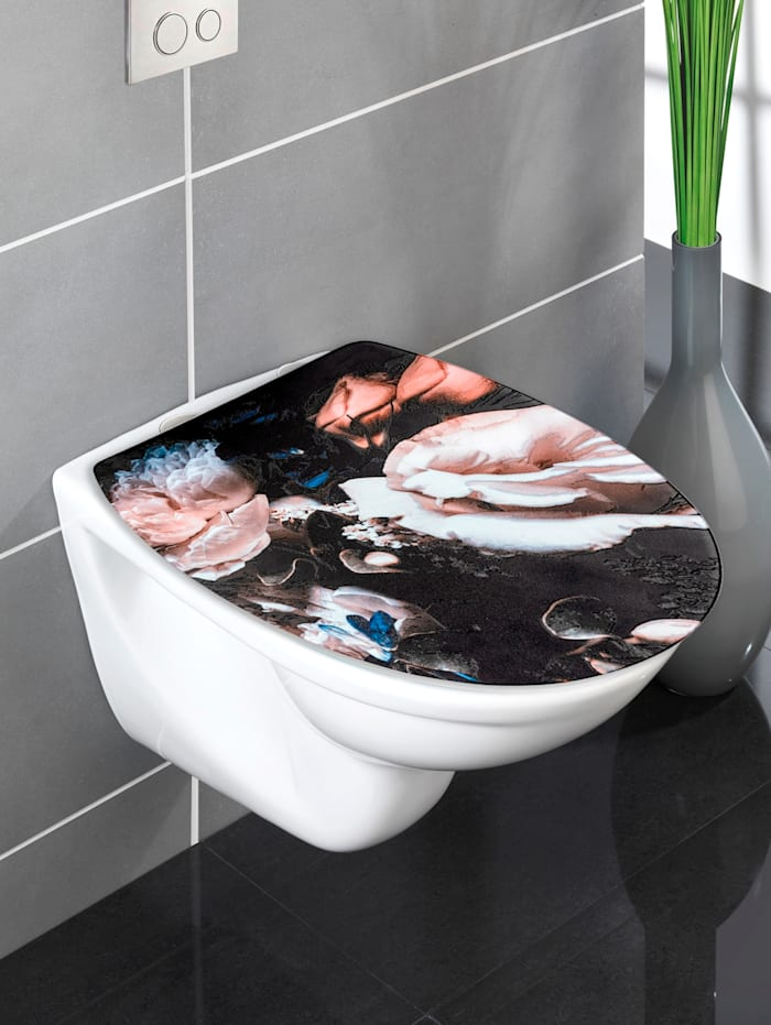 Wenko WC-Sitz 'Pfingstrose', mehrfarbig
