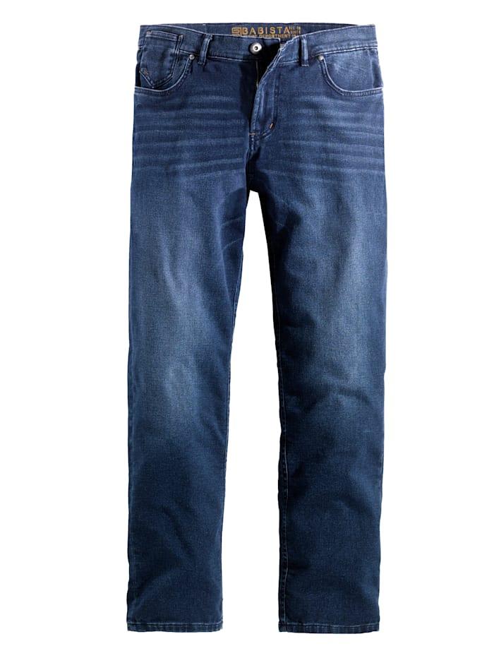 BABISTA Jogpant en matière molletonnée aspect jean, Bleu