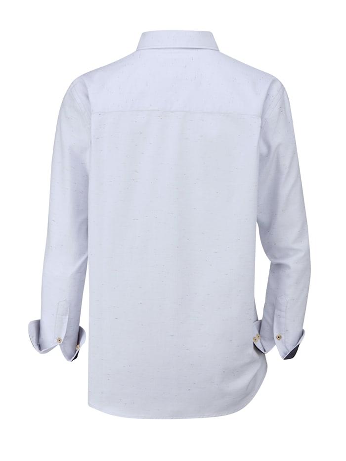Hemd mit feinen Farbakzenten durch Effektgarn