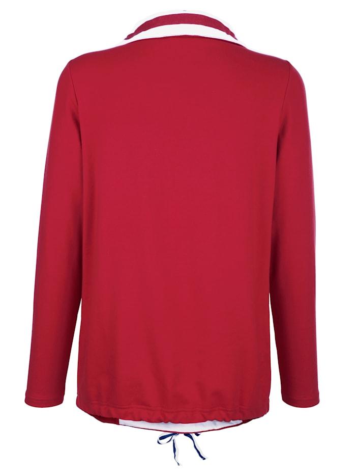 Sweat-shirt à imprimé rayé placé