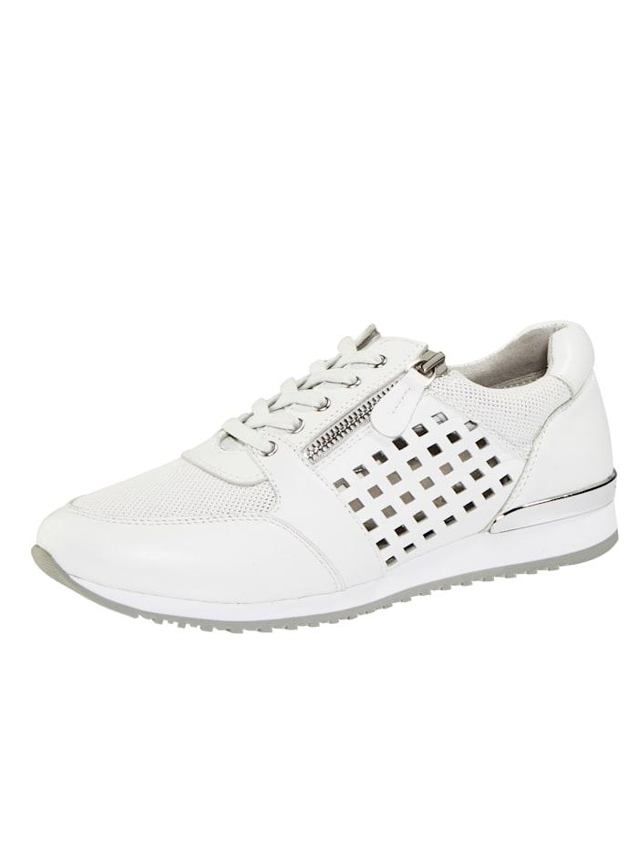 Caprice Sneakers à perforations estivales, Blanc