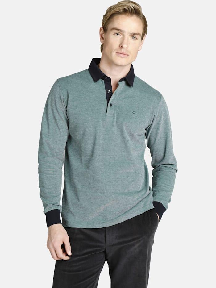 Charles Colby Charles Colby Langarm-Poloshirt DUKE EDGAR, grün