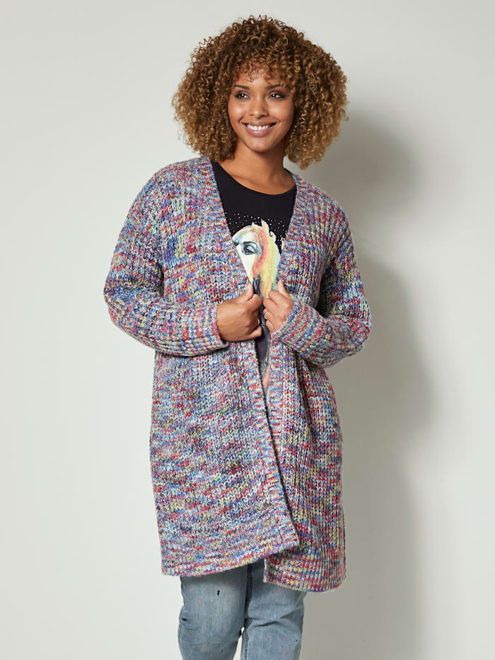 Angel of Style Strickjacke mit Strukturstrick, Multicolor