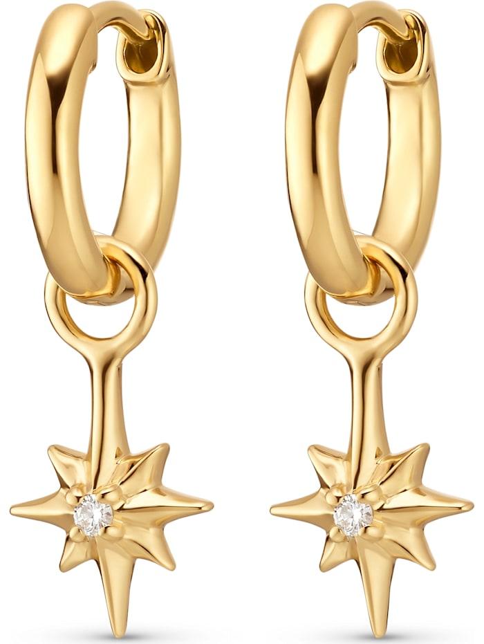 Guido Maria Kretschmer Guido Maria Kretschmer Damen-Creolen Guido Maria Kretschmer 925er Silber 2 Diamant, gold