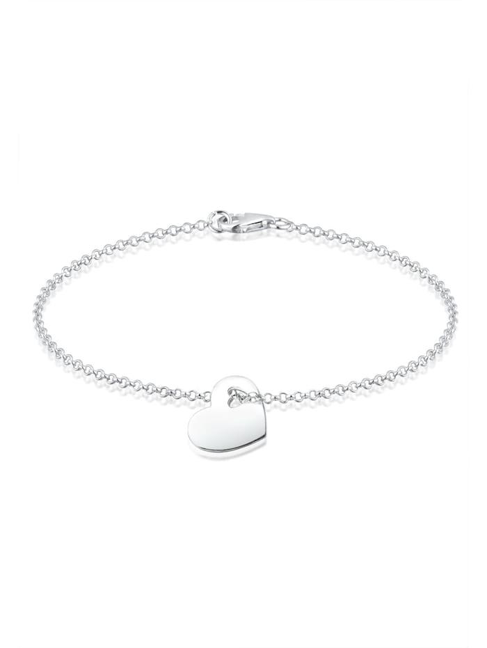 Elli Armband Herz Symbol Cut-Out Design 925 Sterling Silber, Silber