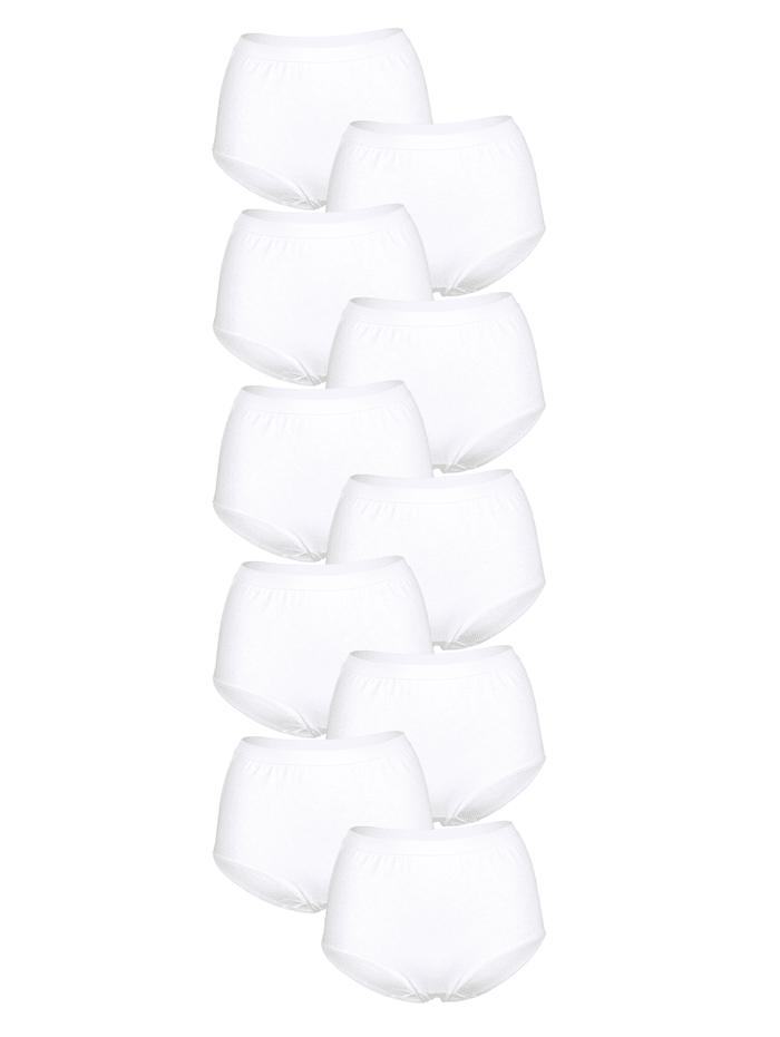 Harmony Taillenslips im 10er Pack mit extra hoher Leibhöhe, Weiß