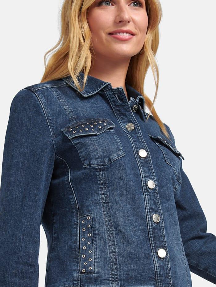 Jeansjacke mit Lochnieten