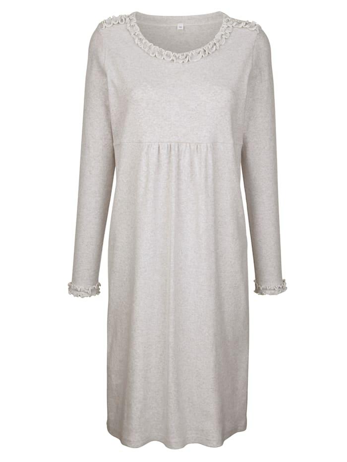 Simone Nachthemd in trageangenehmer Rippjersey-Qualität, grau meliert
