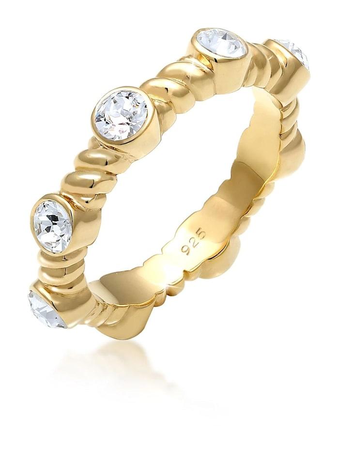 Elli Premium Ring Gedreht Infinity Swarovski® Kristalle 925 Silber, Gold