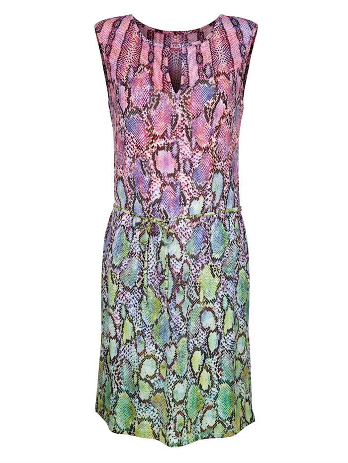 Opera Strandkleid mit raffiniertem Ausschnitt, flieder/grün
