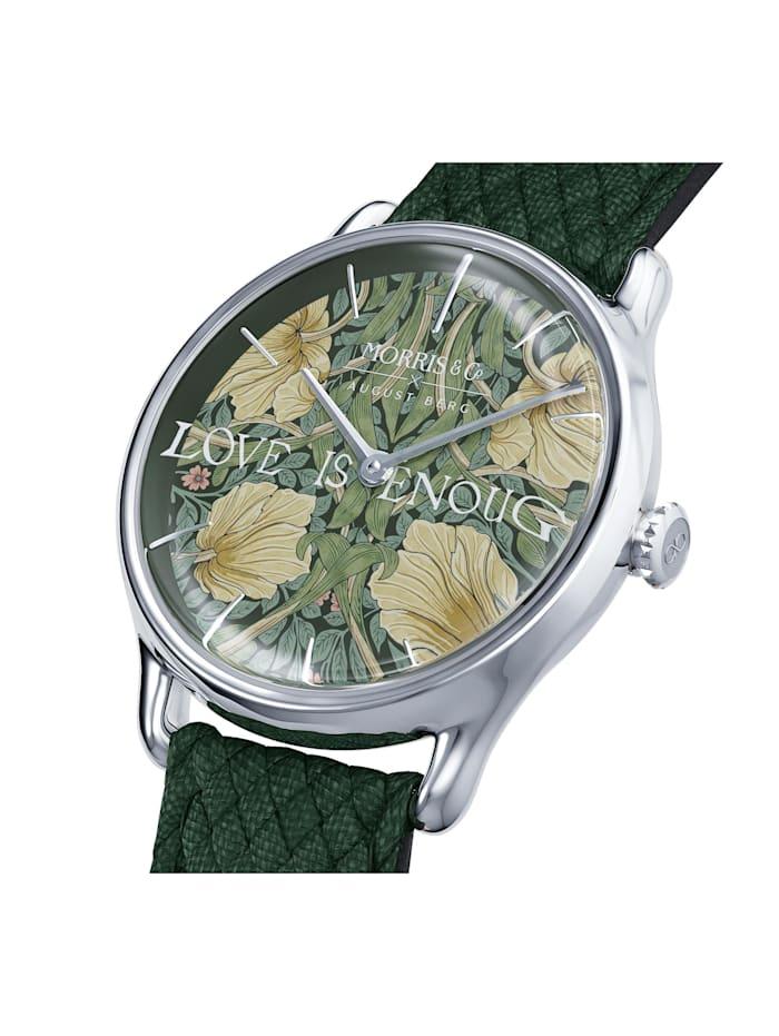 Uhr MORRIS & CO Silver Green Perlon 30mm