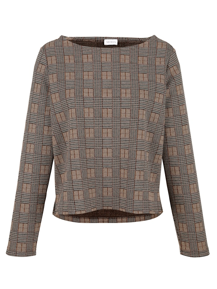 Jumper with checked pattern