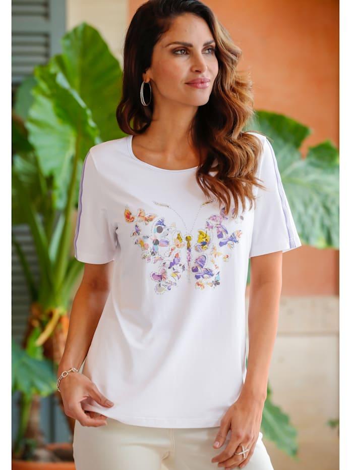 Shirt met romantische vlinderprint