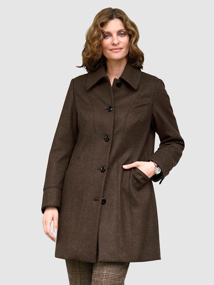 MONA Kabát s vysokým podielom vlny, Hnedá