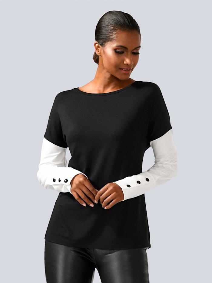 Shirt weiches Shirt mit überschnittener Schulter