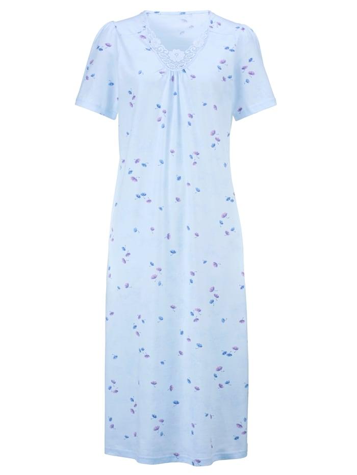 Nočná košeľa s jemným čipkovým motívom