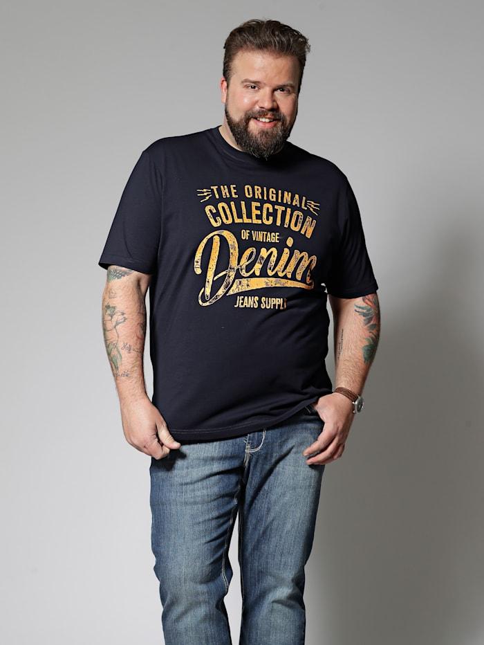 Men Plus T-Shirt, Marineblau