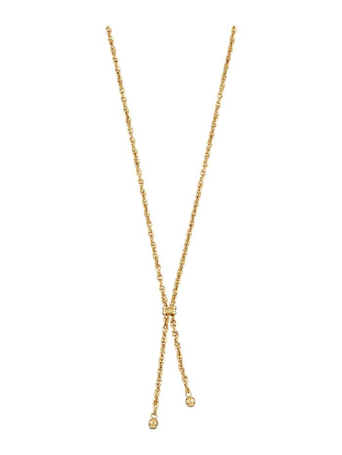 Diemer Gold Y-Collier in Gelbgold 585, Gelbgoldfarben